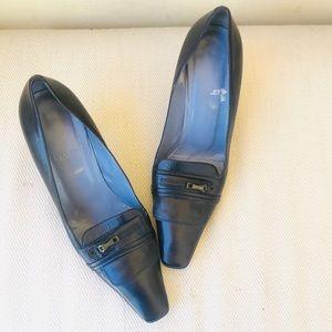 BALLY leather black heels TURINA shoes